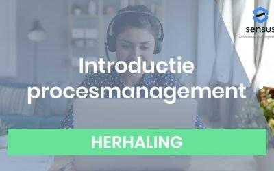 Webinar Introductie procesmanagement